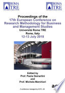 ECRM 2018 17th European Conference on Research Methods in Business and Management Book