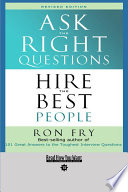 Ask the Right Questions Book