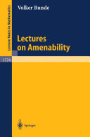 Lectures on Amenability