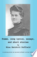 Poems  Song Lyrics  Essays  and Short Stories