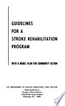 Guidelines for a Stroke Rehabilitation Program