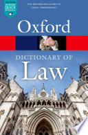 """""""A Dictionary of Law"""" by Jonathan Law"""