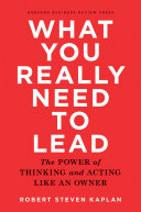 What You Really Need to Lead Pdf/ePub eBook