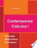 Contemporary Calculus I