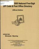 2005 National Five digit ZIP Code   Post Office Directory