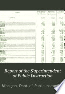 Report of the Superintendent of Public Instruction Book