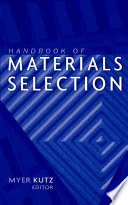 Handbook Of Materials Selection Book PDF