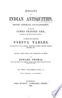 Essays on Indian Antiquities  Historic  Numismatic  and Pal  ographic  of the Late James Prinsep Book