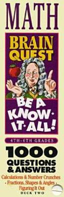 Brain Quest Be a Know It All  Math Book PDF