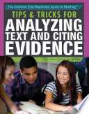 Tips   Tricks for Analyzing Text and Citing Evidence Book