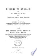 A history of England  from the revolution of 1688 Book PDF