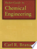 Pocket Guide to Chemical Engineering Book
