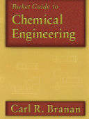 Pocket Guide to Chemical Engineering