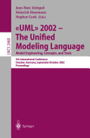 UML 2002   The Unified Modeling Language  Model Engineering  Concepts  and Tools