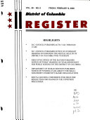 District of Columbia Register