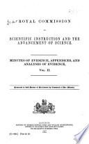 Minutes of evidence  appendices  and analyses of evidence  1874  c 958