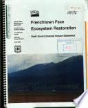 Lolo National Forest  N F    Frenchtown Face Ecosystem Restoration Book PDF