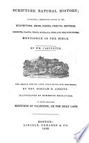 Scripture Natural History