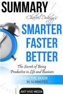 Charles Duhigg s Smarter Faster Better Book