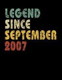 Legend Since September 2007