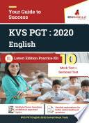 KVS PGT  English  2020   10 Full length Mock Test   Sectional Test Book