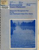 Wastewater Management Plan for the Lake Washington Green River Basins