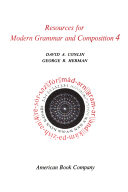 Resources for modern grammar and composition, 4
