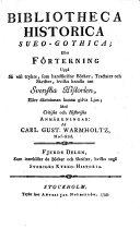 Fjerde Delen, Som innehåller de Böcker och Skrifter, hvilka angå Sveriges Kyrko-Historia