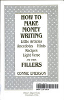How to make money writing little articles, anecdotes, hints, recipes, light verse, and other fillers