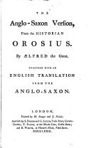 Pdf The Anglo-Saxon version from the historian Orosius, by Ælfred the great. With an Engl. tr. from the Anglo-Saxon [by the ed., hon. D. Barrington