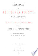History of Middlesex County  Massachusetts