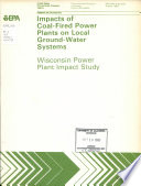 Impacts of Coal fired Power Plants on Local Ground water Systems