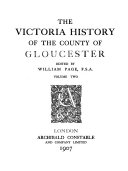 The Victoria History of the County of Gloucester