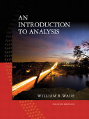Introduction to Analysis  An