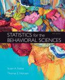 Loose Leaf Version for Statistics for the Behavioral Sciences Book