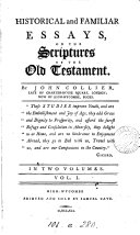 Historical and Familiar Essays, on the Scriptures of the Old Testament ebook