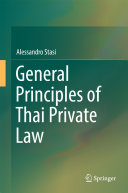 General Principles of Thai Private Law