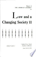 Law and a Changing Society 2