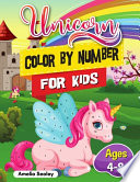 Unicorn Color by Number for Kids