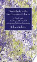 Stewardship In The New Testament Church