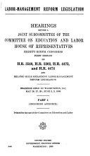 Labor management Reform Legislation