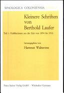 Kleinere Schriften: Publikationen aus der Zeit von 1894 bis 1910