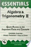 Algebra And Trigonometry Ii Essentials