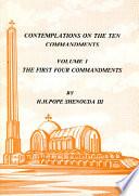 Contemplations on the Ten Commandments Vol. 1