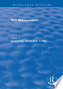 Risk Management, 2 Volume Set