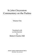 St  John Chrysostom Commentary on the Psalms