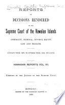 Reports of Some of the Judgments and Decisions of the Courts of Record of the Hawaiian Islands Book