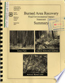 Bitterroot National Forest  N F    Burned Area Recovery  Ravalli County