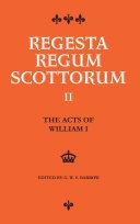 Acts of William I (1165-1214)