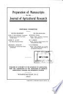 Preparation Of Manuscripts For The Journal Of Agricultural Research